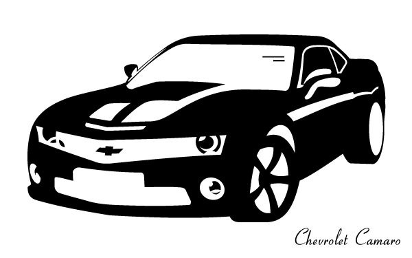 Red camero car clipart.