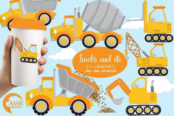 Trucks and etc cliparts, Trucks cliparts AMB.