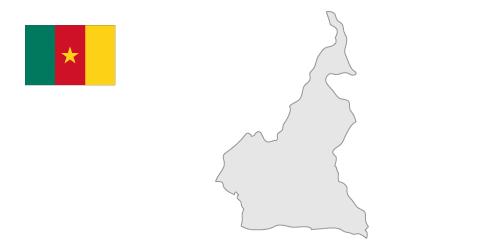 Cameroon Map / Free Illustration.
