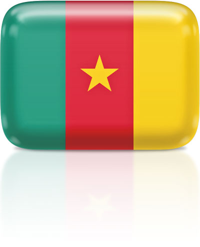 Flag Icons of Cameroon.