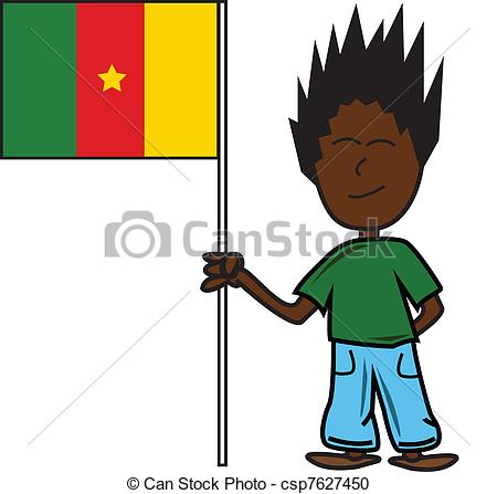 Vector Clipart of Cameroon flag.