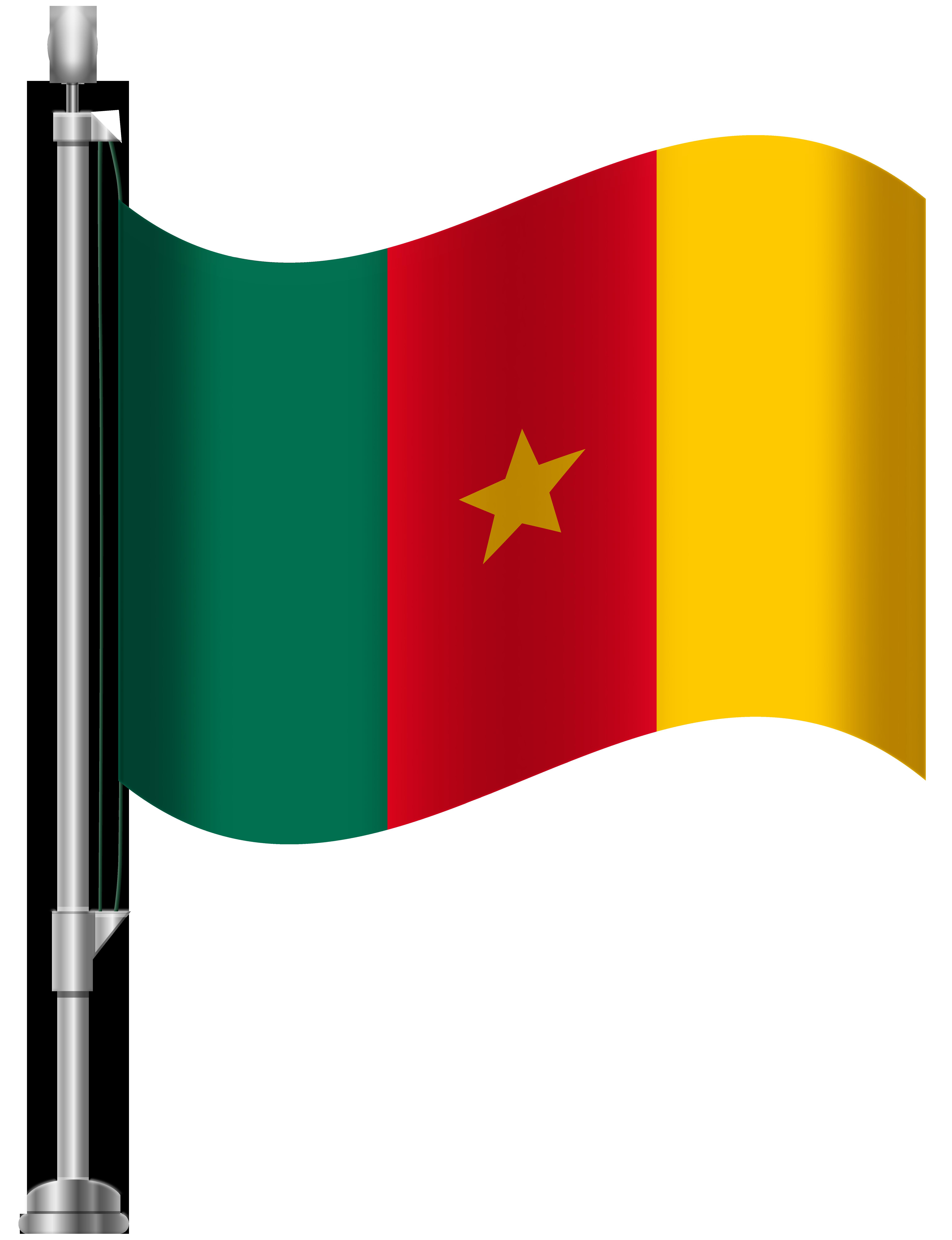 Cameroon Flag PNG Clip Art.