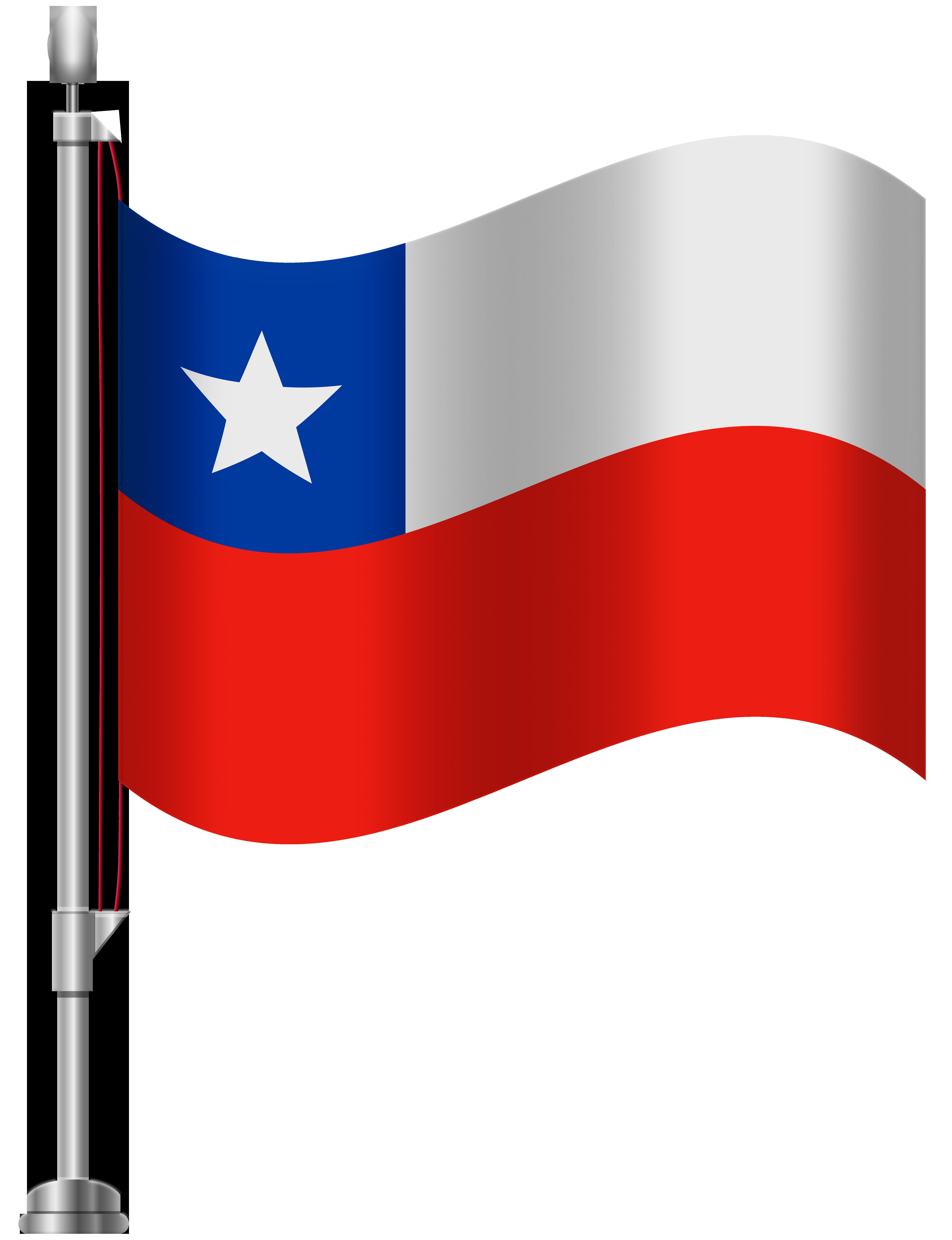 Chile Flag PNG Clip Art.