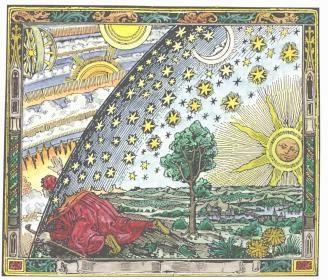 Peering through the cosmic sphere.