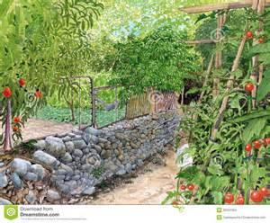 Vegetable Garden Camille Pissarro, Vegetable Garden, Overcast.