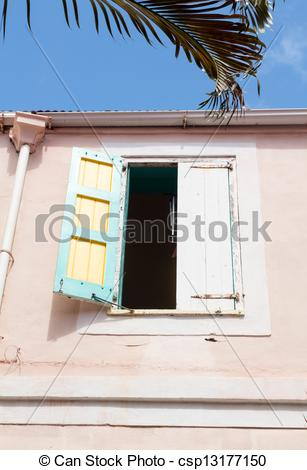 Stock Images of Camille Pissarro house in Charlotte Amalie.