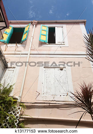 Stock Photo of Camille Pissarro house in Charlotte Amalie.