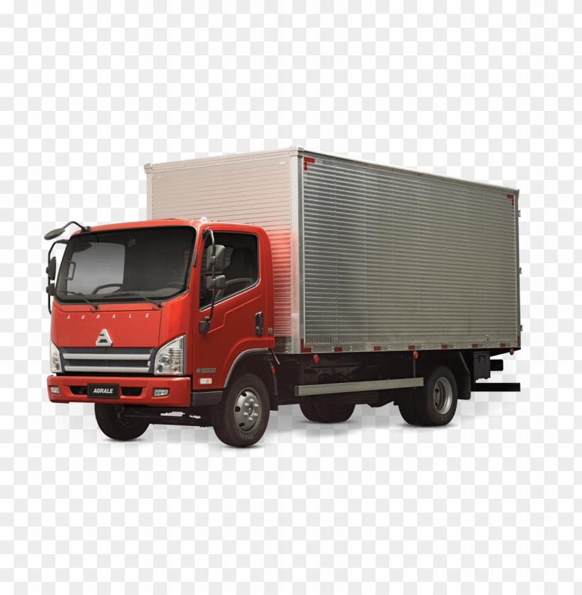 caminhão baú PNG image with transparent background.