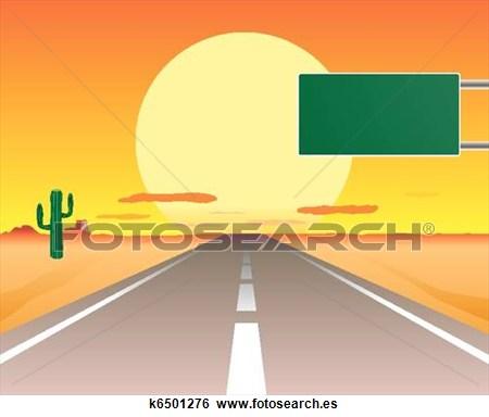 Camino Desierto Clipart.