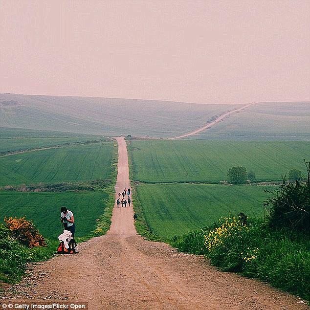 Clipart map spain camino santiago spiritual walk.