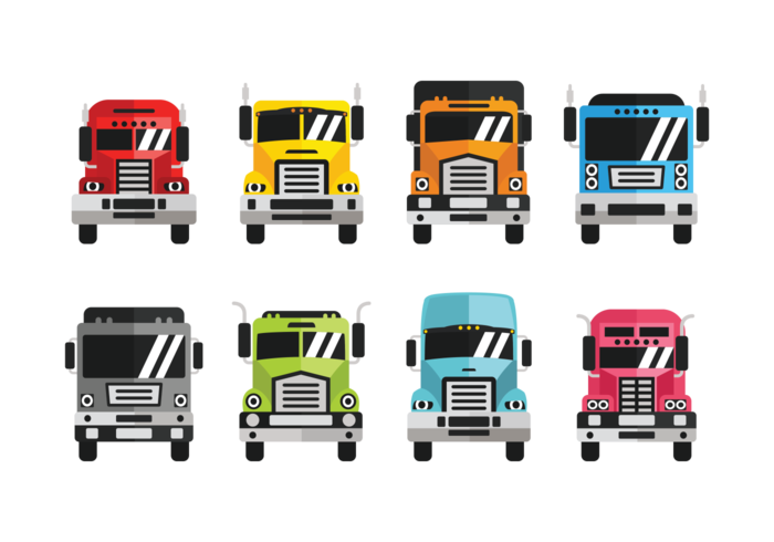 Camion Icons Vector.