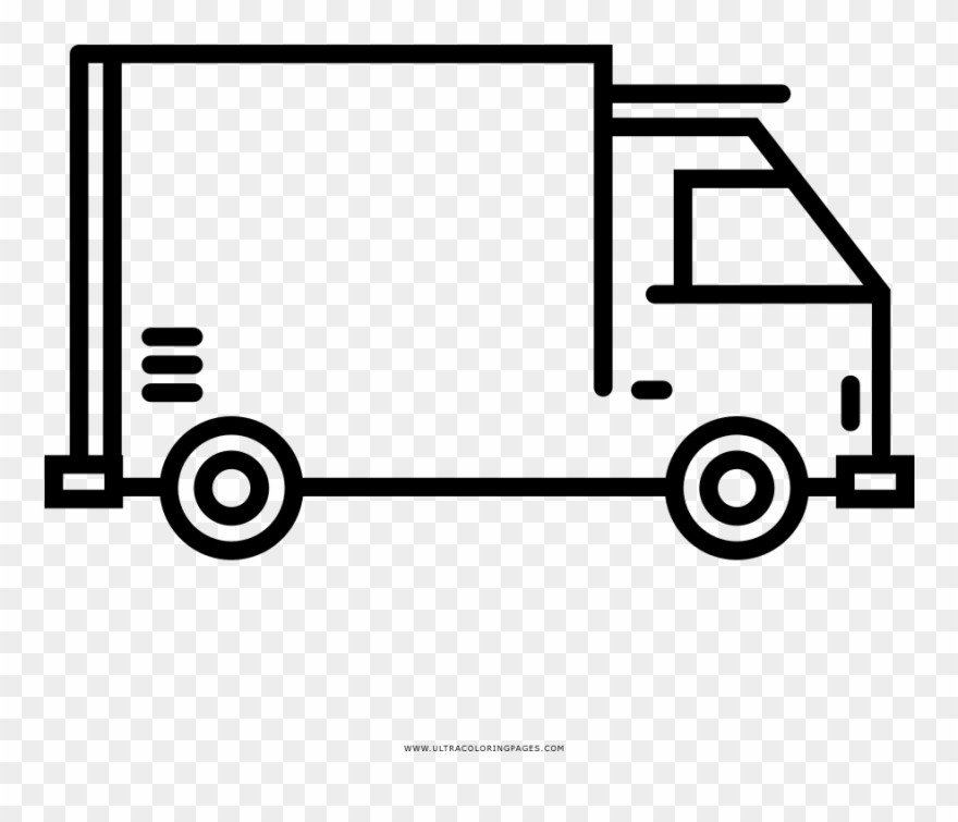 Delivery Truck Coloring Page.