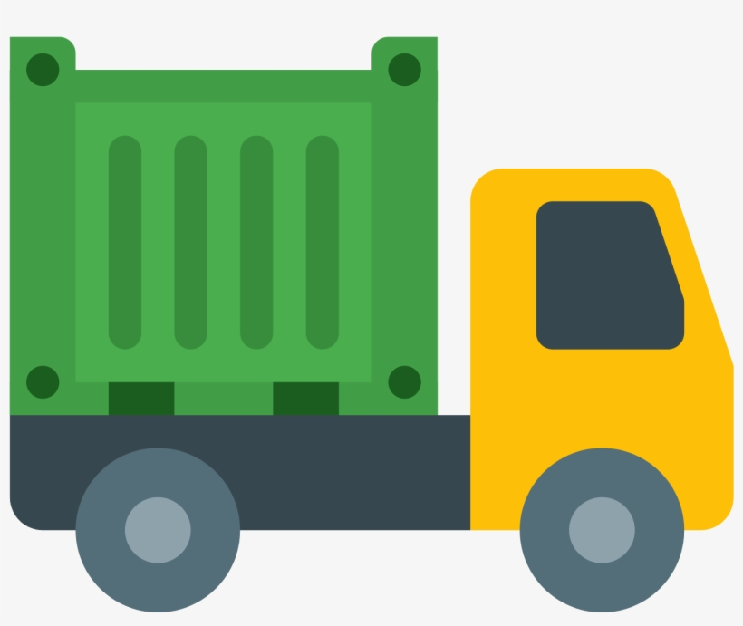 Transparent Color Shipping Container Truck Png Image.
