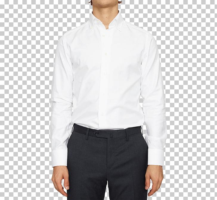 Camisa de vestir con cuello redondo, camisa con botones.