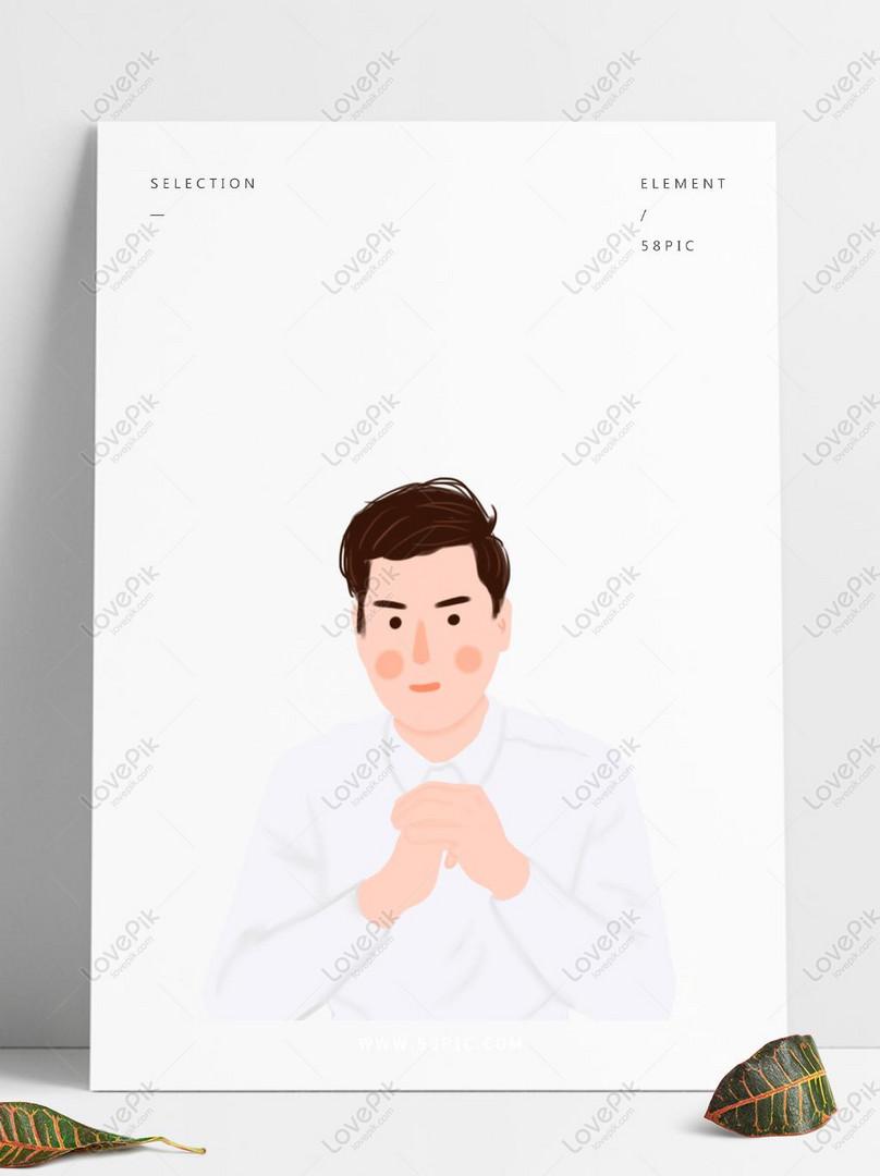 apretón de manos camisa blanca hombre elemento decorativo.