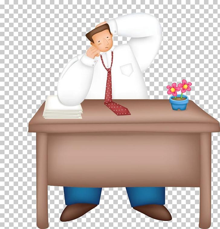 Oficina dibujos animados comics ilustración, hombre camisa.