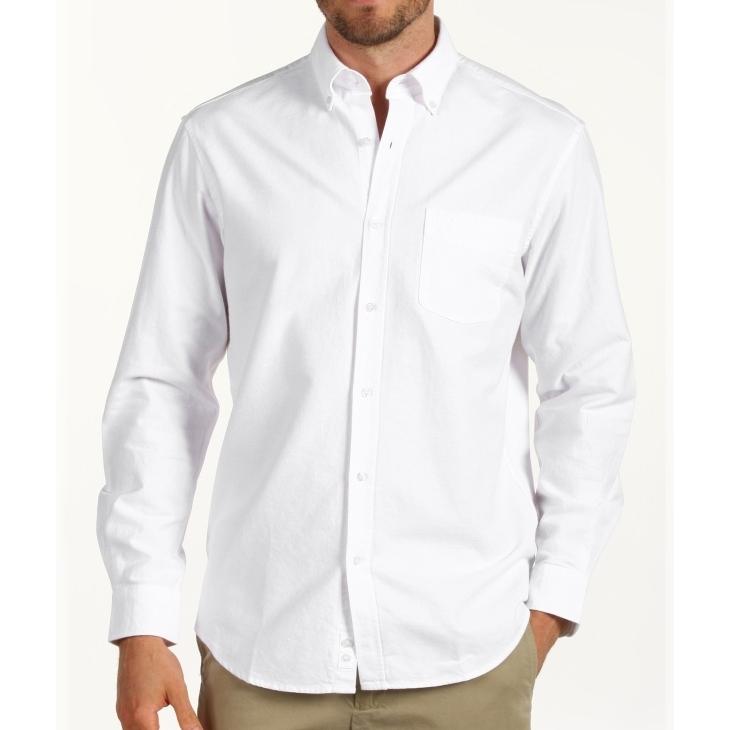 Caroche camisa manga larga hombre OXO NEW SIENA color blanco talla XXL.