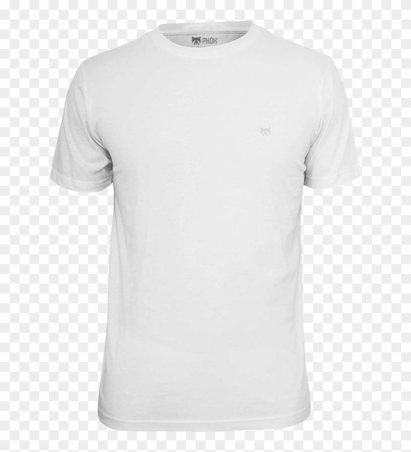 Camiseta Básica Bordada Phox Masculina Branca 1012.