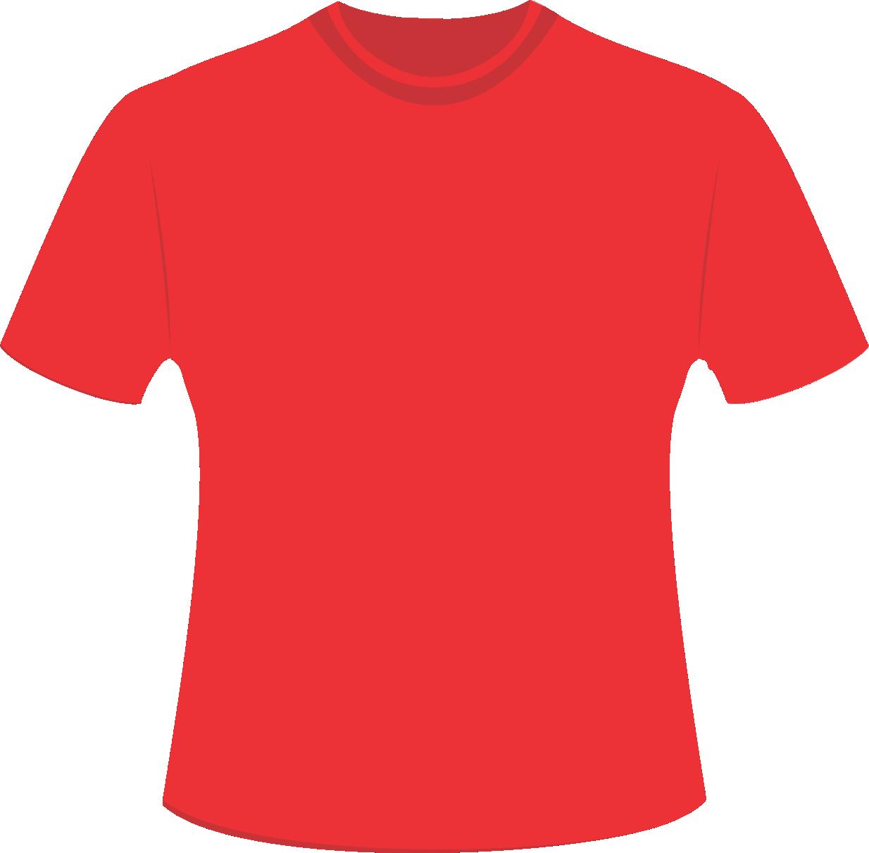 Mockup Camiseta Vermelha Editável PNG e Vetor.