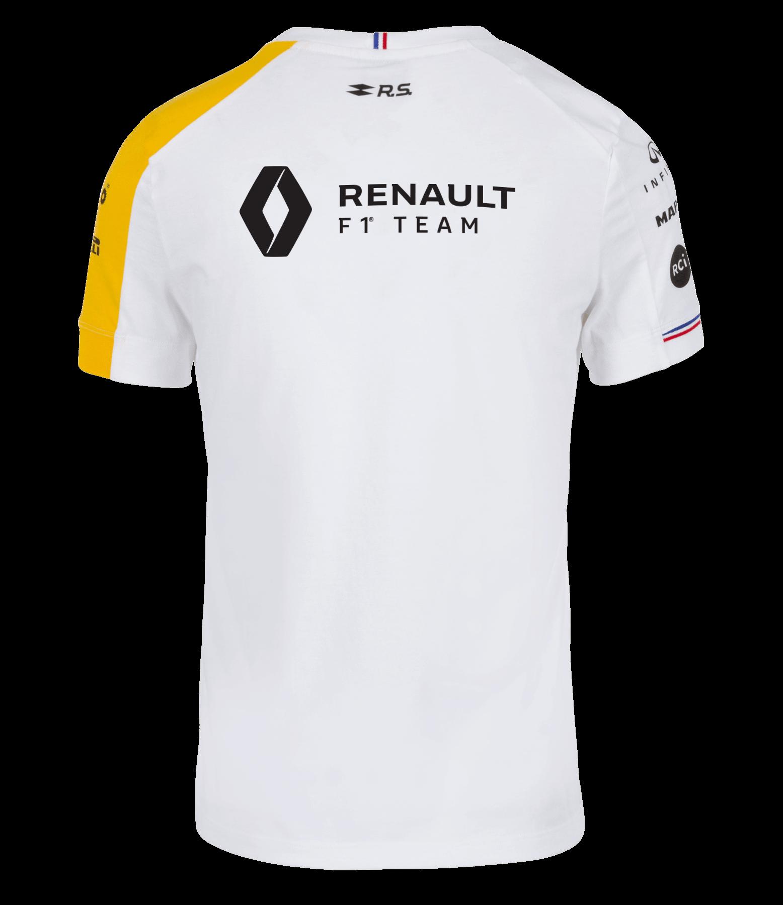 Camiseta RENAULT F1® TEAM 2019 blanca para hombre.