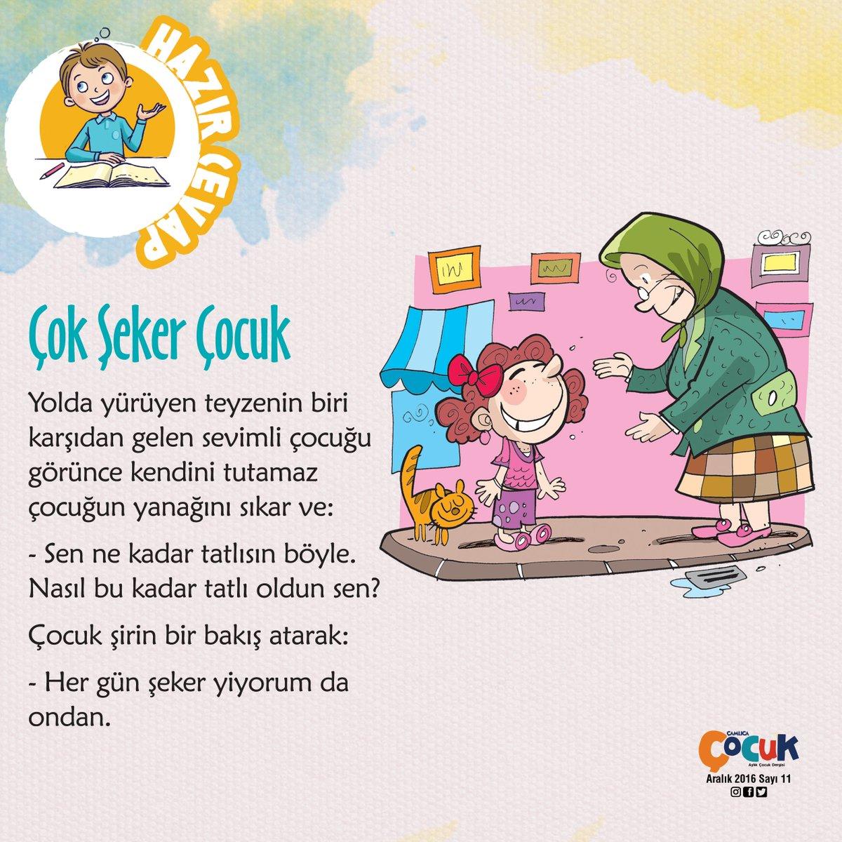 """Çamlıca Çocuk Dergi on Twitter: """"ÇOK ŞEKER ÇOCUK #cocuk #dergi."""