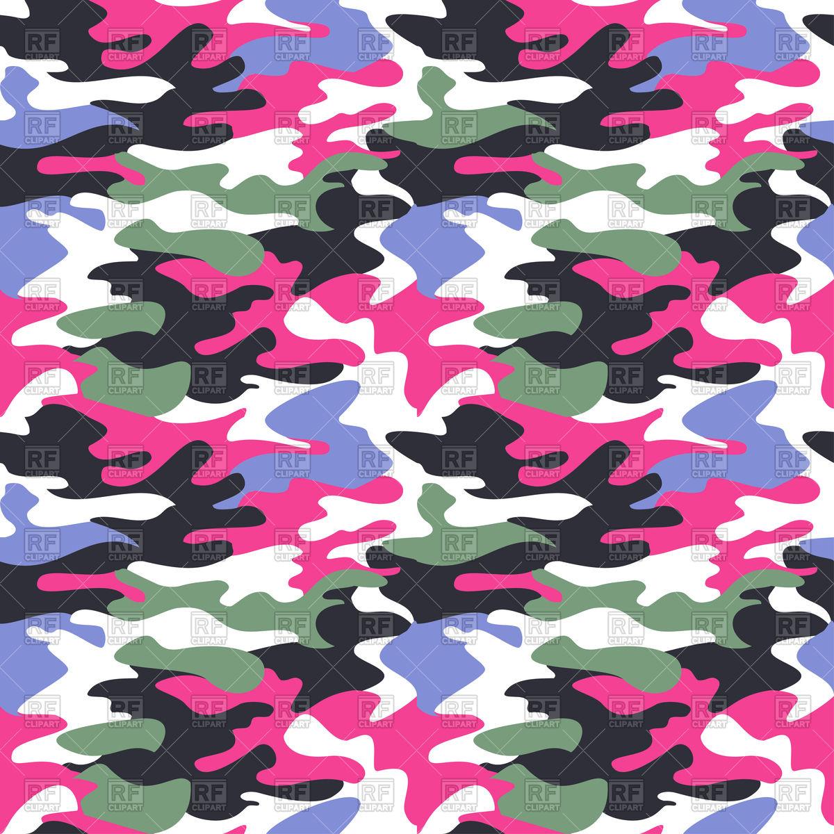 Camouflage pink pattern.