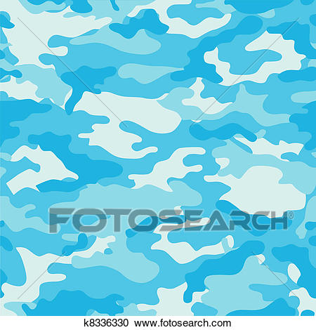 Blue Camouflage Background Clipart.