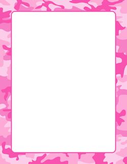 Pink Camouflage Border.