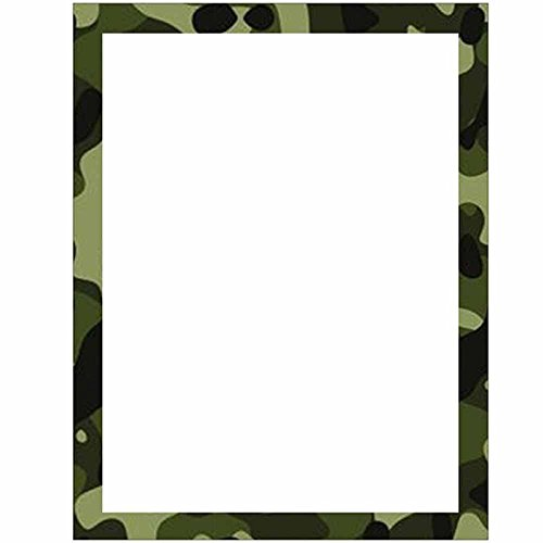 Amazon Com Camouflage Stationery Letter Paper Military Theme Classic.