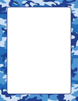 Blue Camouflage Border.