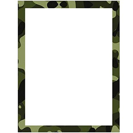 Camouflage Stationery Letter Paper.