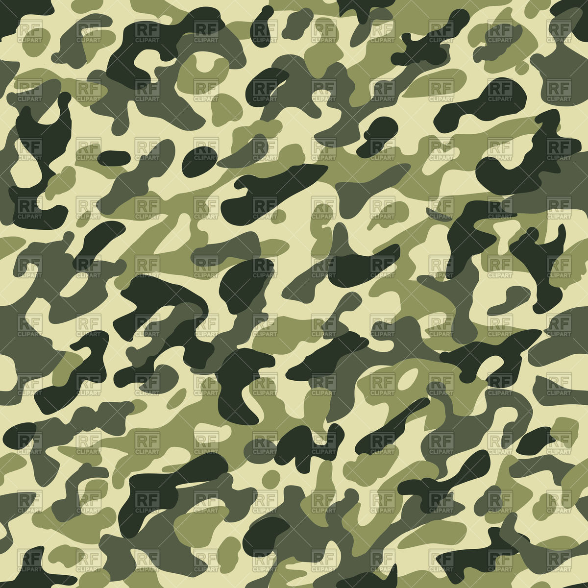 Camouflage seamless pattern in green khaki colors Stock Vector Image.