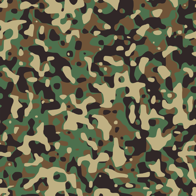 Free Clipart: Woodland Camouflage.