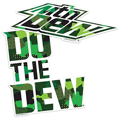 Amazon.com: Popfunk Mountain Dew Do The Dew Camo Logo.