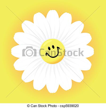 Vector Clipart of camomile.