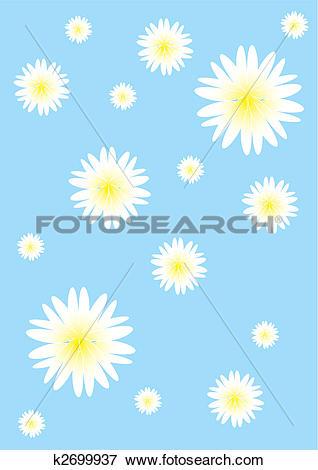 Clip Art of chamomile field k2699937.