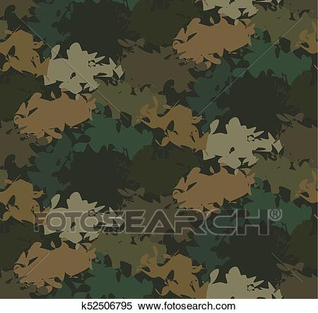 Abstract Military Camouflage Background Clipart.