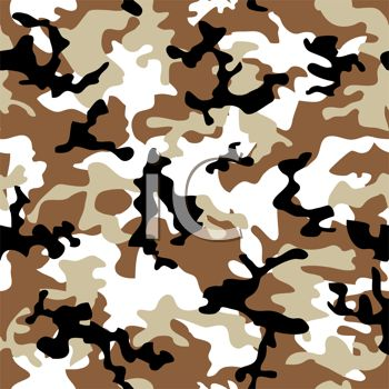 Royalty Free Clip Art Image: Brown and White Camouflage Pattern.