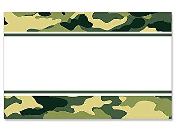 Amazon.com: 50ct. Green CAMO Camouflage Border Blank Florist.