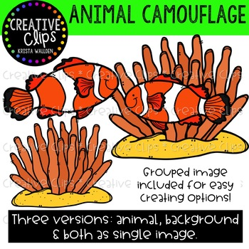 Animal Camouflage Clipart {Creative Clips Clipart}.