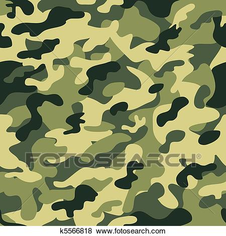 Camouflage seamless green Clip Art.