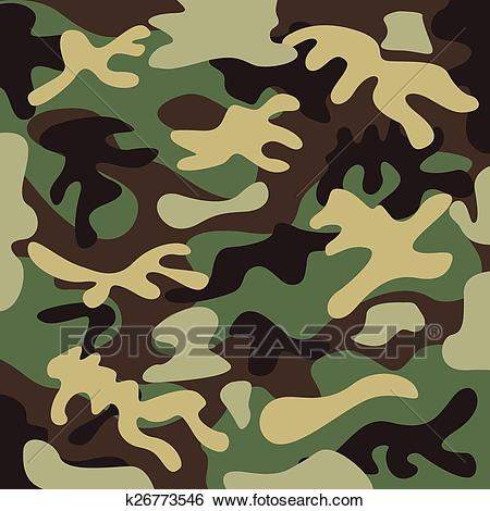 Military camouflage Clip Art.