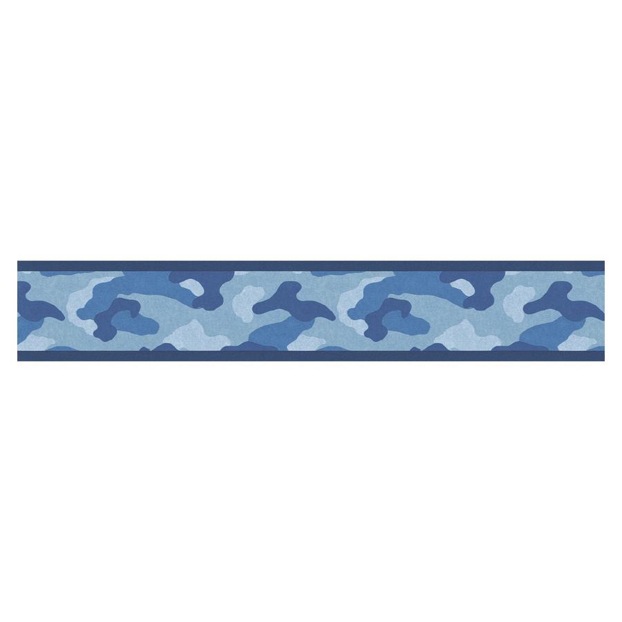 Blue Camo Border Clip Art.