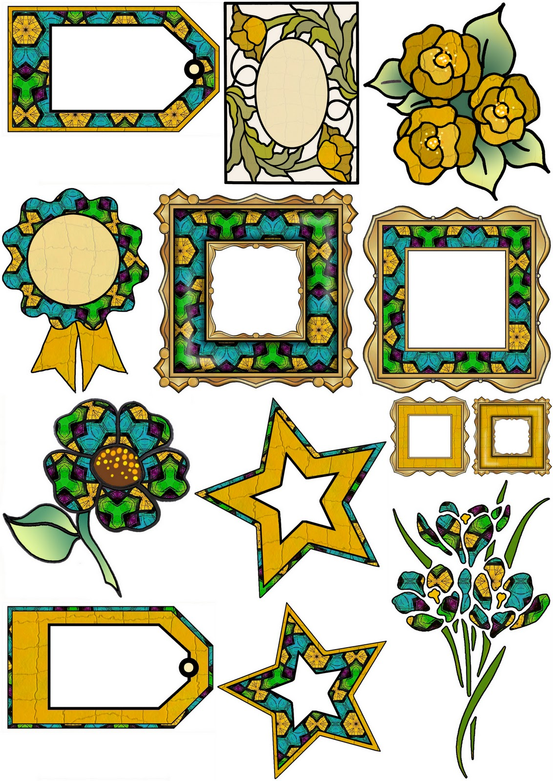 Camouflage Border Clip Art free image.