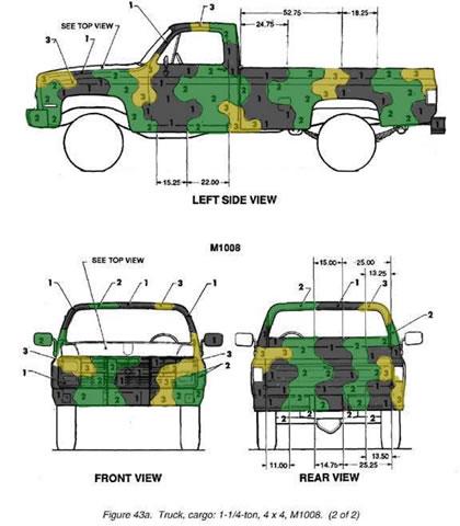 Military Truck/Blazer Camo Paint Schemes.