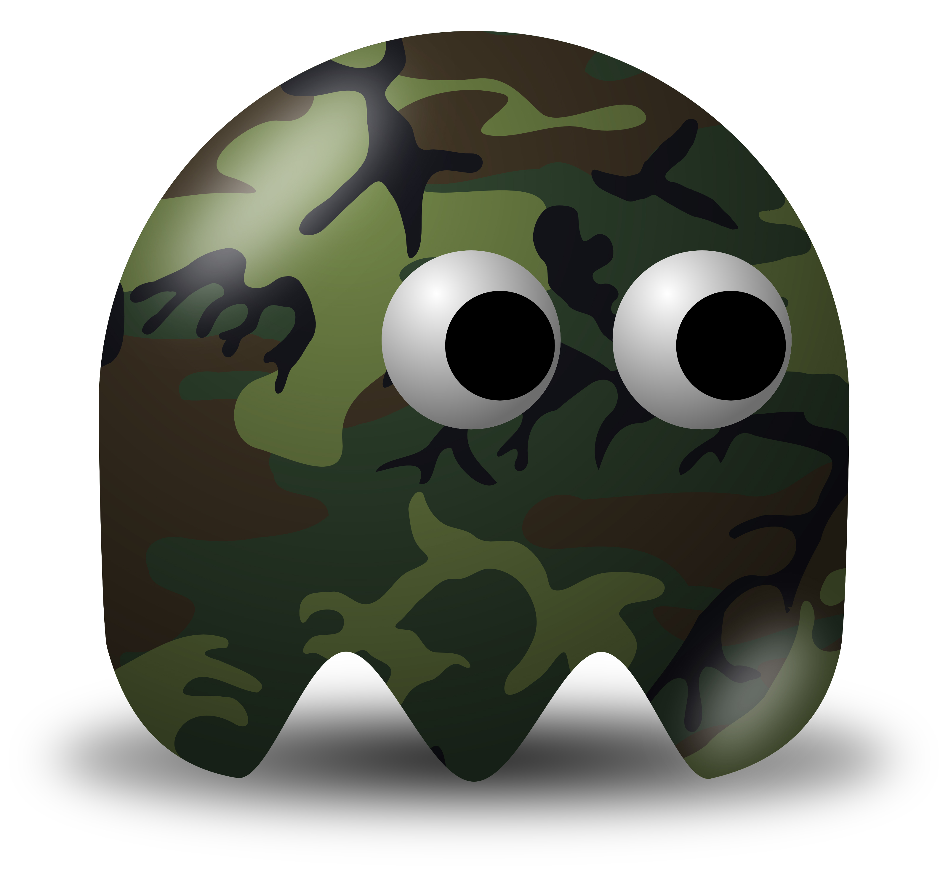 Military Vector Clipart Illustration Of A Camouflage Soldier.