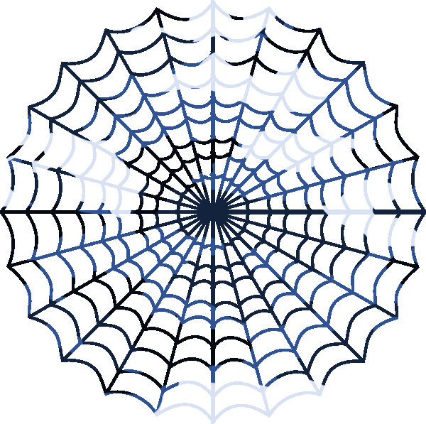 Blue Camouflage Spiders Web.