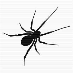 Black Widow Spider Clip Art.
