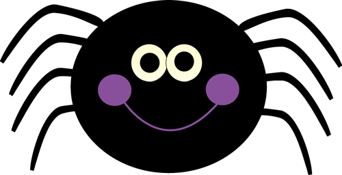 Purple Spider Clipart.