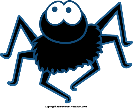 Blue Spiders Clipart.